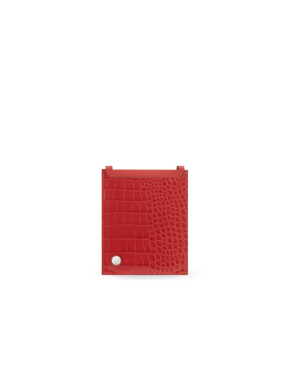 Croc-effect passport case - Lanvin