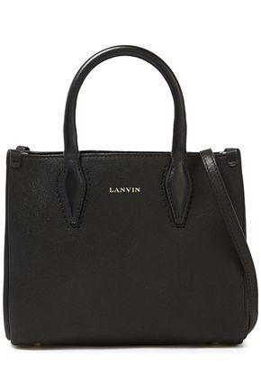 LANVIN حقيبة توت من الجلد لون ميتاليك