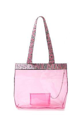 MISSONI MARE حقيبة توت من مادّة بولي فينيل كلوريد مزينة بشعار الماركة