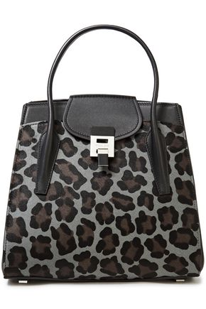 MICHAEL KORS COLLECTION Leopard-print calf hair and leather tote