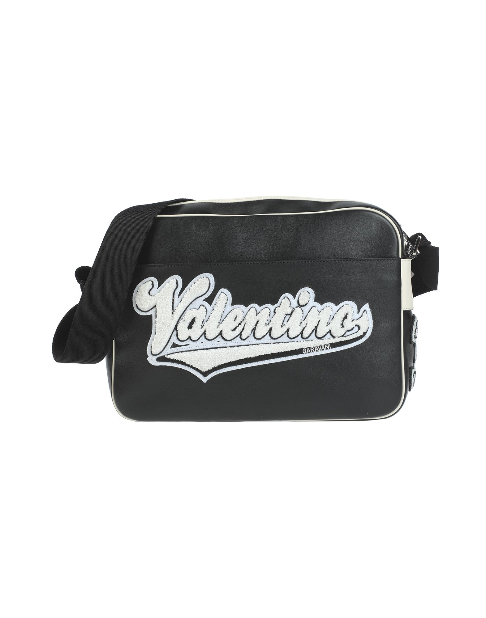 《セール開催中》VALENTINO GARAVANI メンズ 肩掛けバッグ ブラック 革