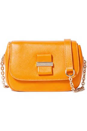 SEE BY CHLOÉ Logo-embellished pebbled-leather shoulder bag