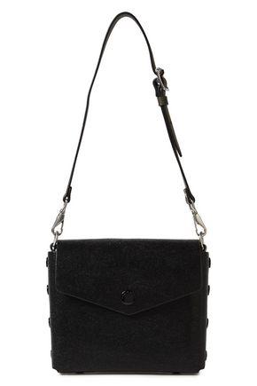 RAG & BONE Atlas snap-detailed glossed stringray-effect leather shoulder bag