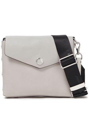 RAG & BONE Grosgrain-trimmed leather shoulder bag