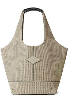 RAG & BONE Logo-appliquéd embroidered shoulder bag