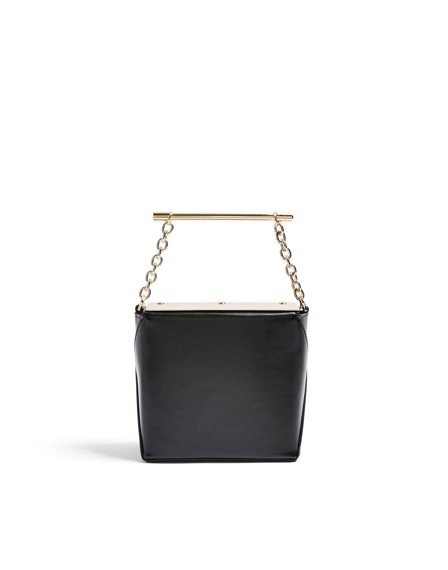 《セール開催中》TOPSHOP レディース ハンドバッグ ブラック ポリウレタン 100% DIVA BLACK BOXY GRAB BAG