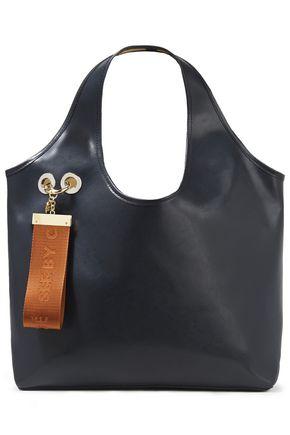 SEE BY CHLOÉ حقيبة توت من الجلد مزينة بشعار الماركة