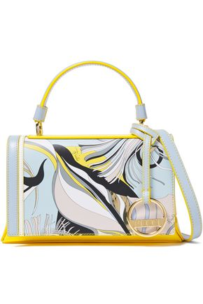 EMILIO PUCCI Mini Pilot embellished printed leather shoulder bag