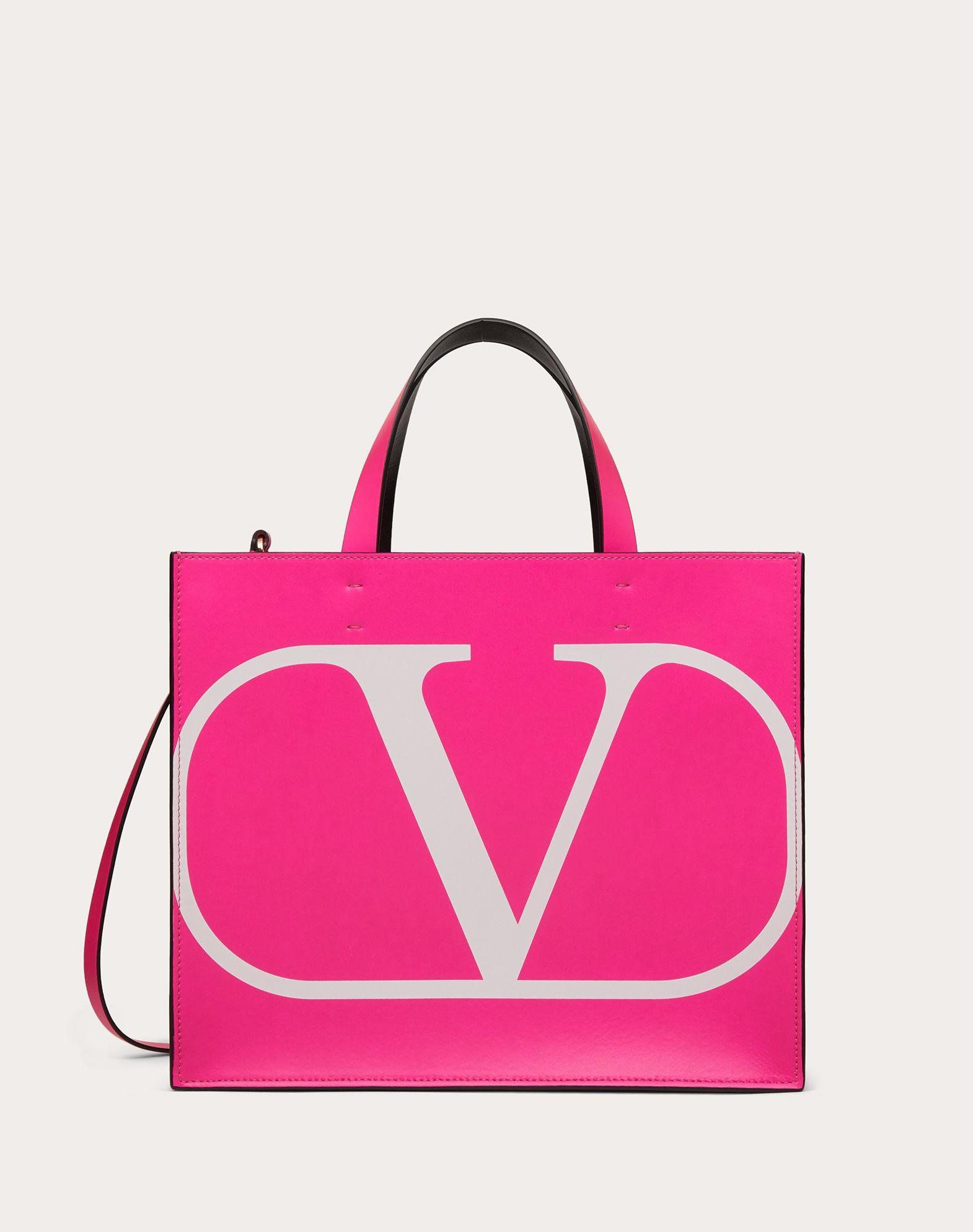 Маленькая сумка-шоппер VLOGO из флуоресцентной телячьей кожи