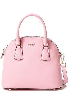 KATE SPADE New York Logo-embellished pebbled-leather shoulder bag