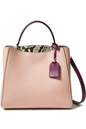 KATE SPADE New York Fleur two-tone pebbled-leather shoulder bag