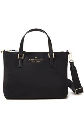 KATE SPADE New York Sam leather-trimmed shell shoulder bag