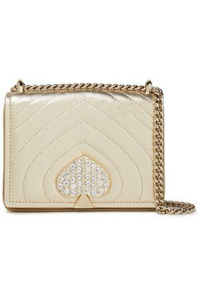 KATE SPADE New York Amelia crystal-embellished quilted-leather shoulder bag