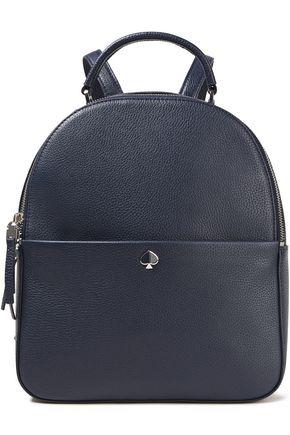 KATE SPADE New York حقيبة ظهر من الجلد المحبب مع شعار الماركة المطبّق