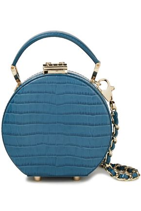 ASPINAL OF LONDON Croc-effect leather shoulder bag