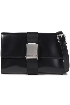 McQ Alexander McQueen Christine Deluxe buckle-detailed leather shoulder bag