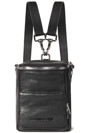 McQ Alexander McQueen Convertible pebbled-leather backpack