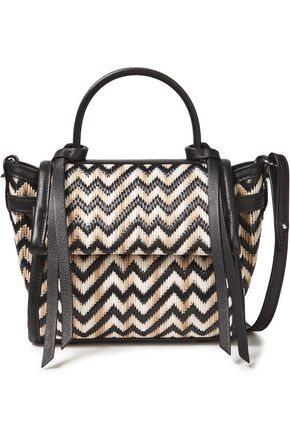 ELENA GHISELLINI Angel Bali leather-trimmed woven shoulder bag