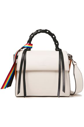 ELENA GHISELLINI Angel color-block textured-leather shoulder bag
