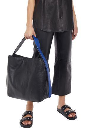 Joseph Two-tone Leather Shoulder Bag In Black