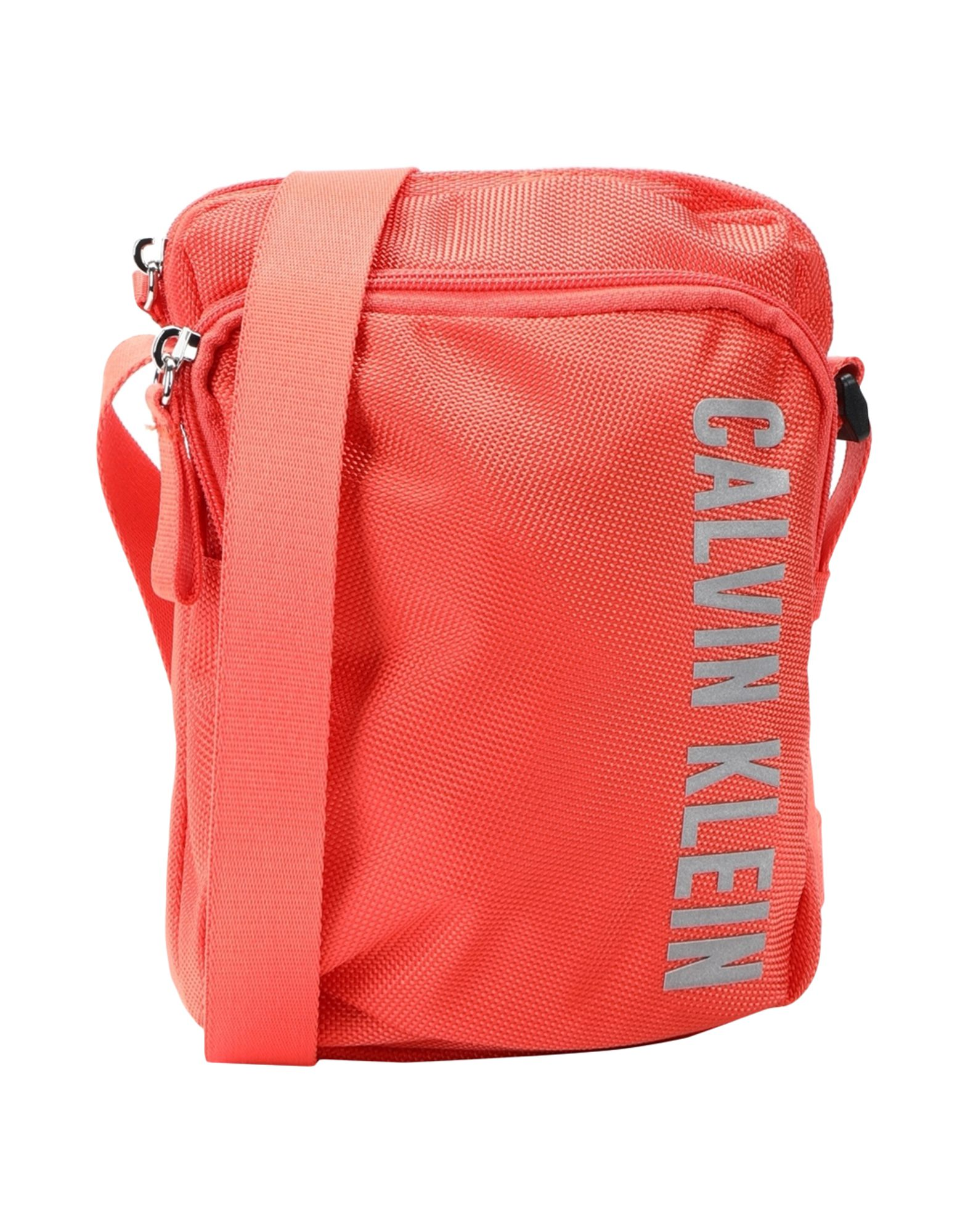 《セール開催中》CALVIN KLEIN PERFORMANCE メンズ メッセンジャーバッグ オレンジ リサイクルポリエステル 100% CROSSBODY BAG