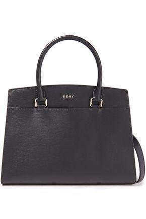 DKNY حقيبة توت من الجلد النافر لون ميتاليك