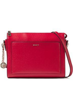 DKNY حقيبة كتف من الجلد النافر