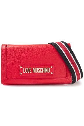 LOVE MOSCHINO Logo-appliquéd pebbled-leather shoulder bag