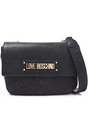 LOVE MOSCHINO حقيبة كتف من الجاكار والجلد الاصطناعي مزينة بشعار الماركة