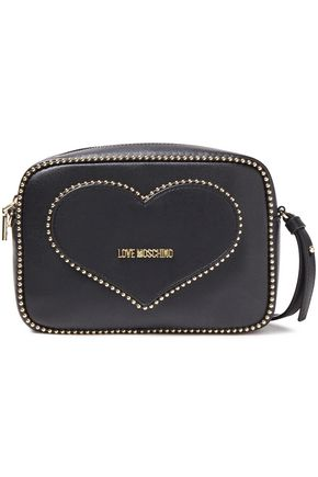 LOVE MOSCHINO Studded faux leather convertible shoulder bag