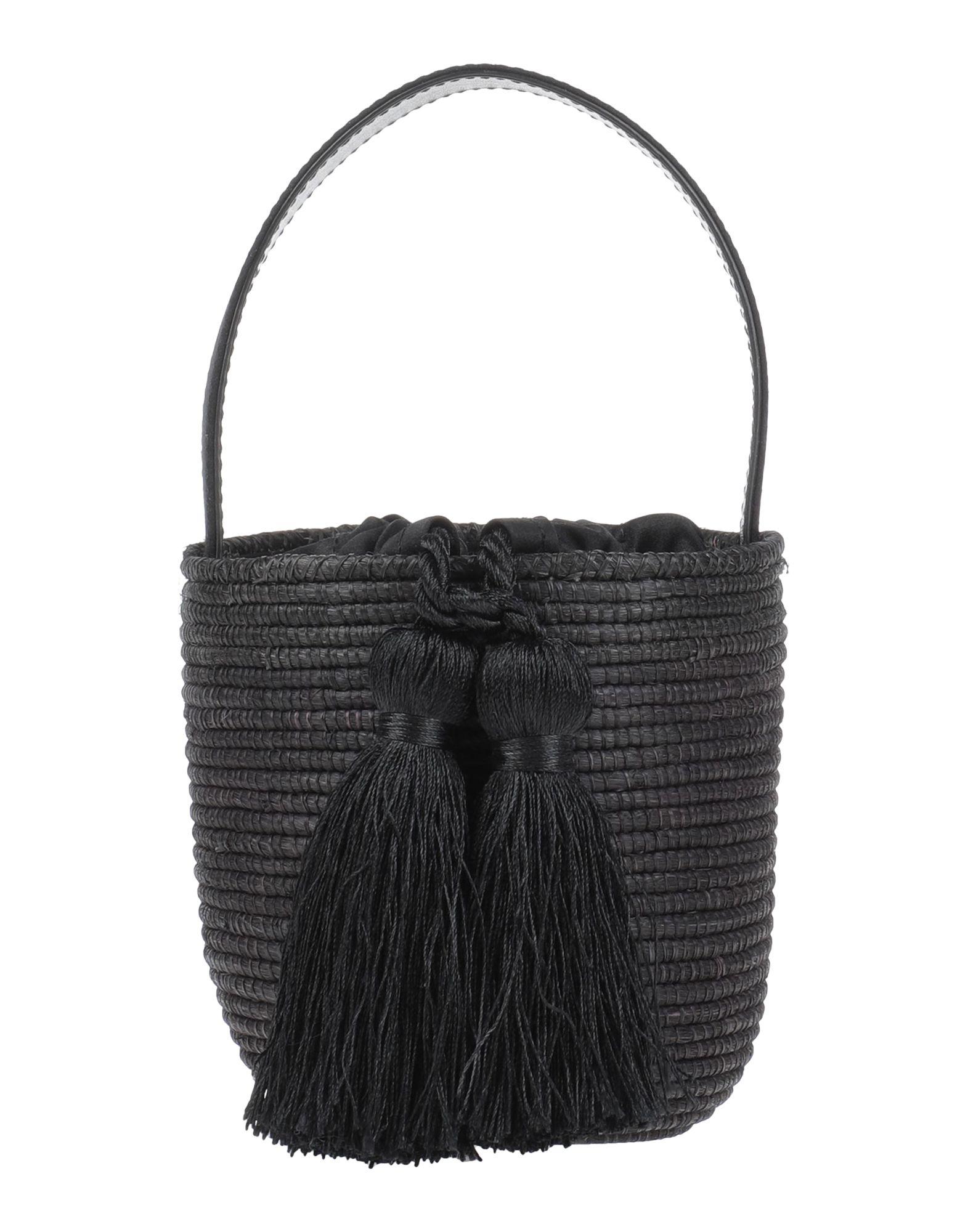《セール開催中》CESTA COLLECTIVE レディース ハンドバッグ ブラック ストロー / 紡績繊維