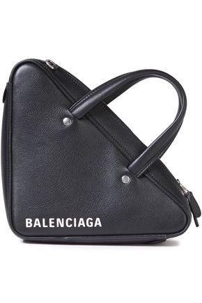 BALENCIAGA حقيبة توت من الجلد المحبب المطبع برسومات