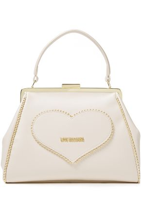 LOVE MOSCHINO حقيبة توت من الجلد الاصطناعي مزخرفة بأزرار معدنية