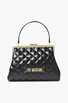 LOVE MOSCHINO حقيبة توت من الجلد الاصطناعي المبطن مزينة بعقدة فراشية
