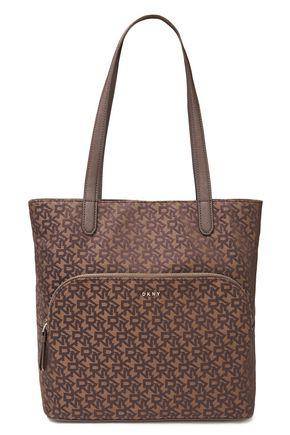 DKNY حقيبة توت مع شعار الماركة من الجاكار