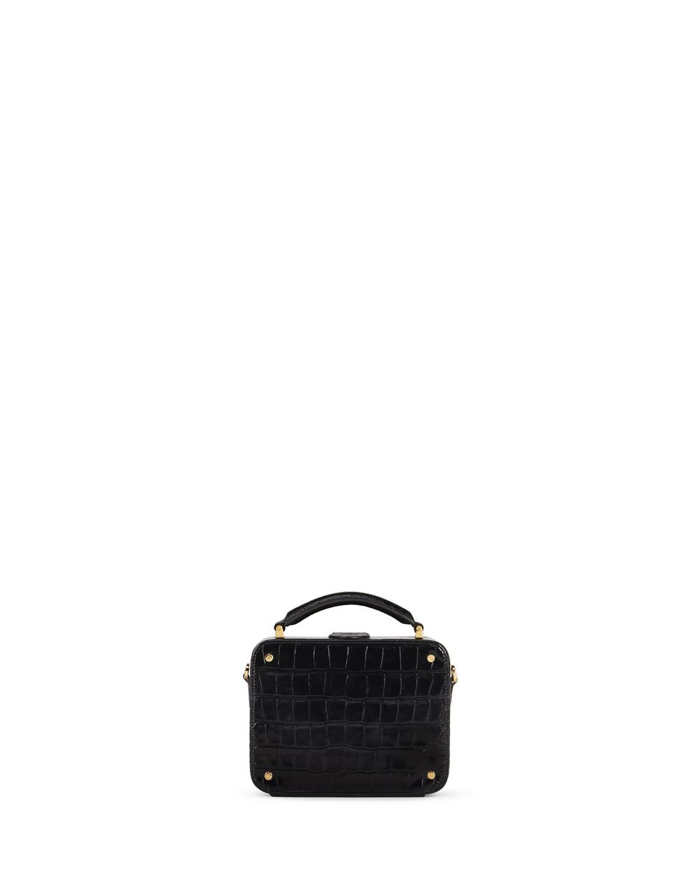 BENTO MINAUDIÈRE IN CROCODILE-EMBOSSED LEATHER - Lanvin