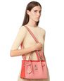 LANVIN Top handle Woman GRAINED LEATHER BOGEY BAG SM f