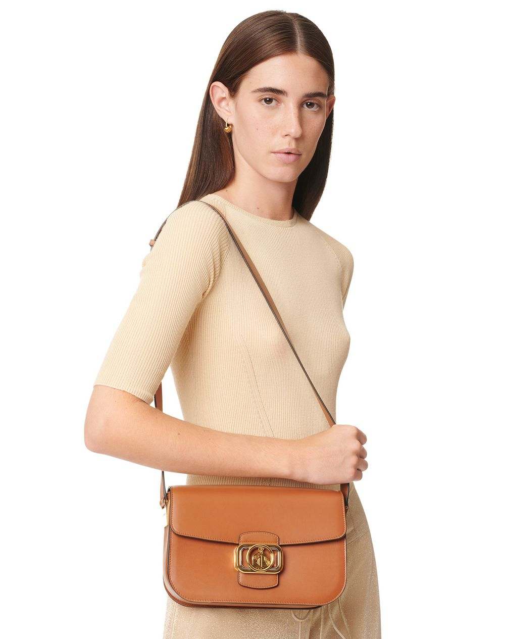 SWAN BOX BAG MM IN CALFSKIN LEATHER - Lanvin