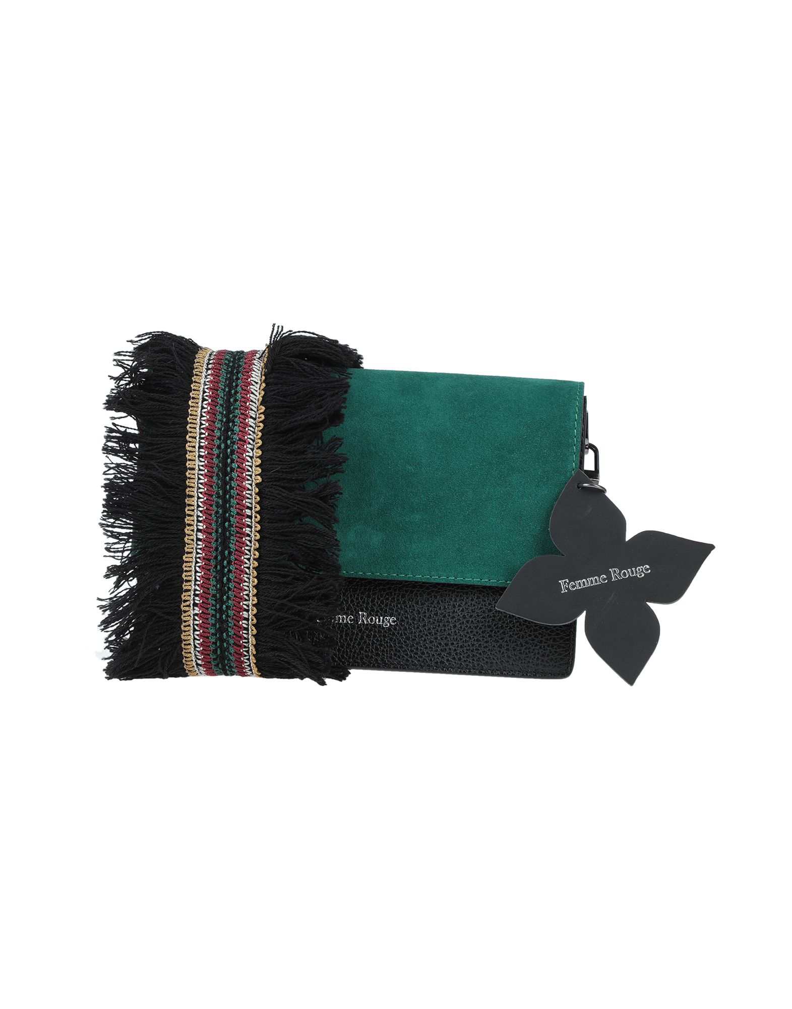 《セール開催中》FEMME ROUGE レディース 肩掛けバッグ エメラルドグリーン 革