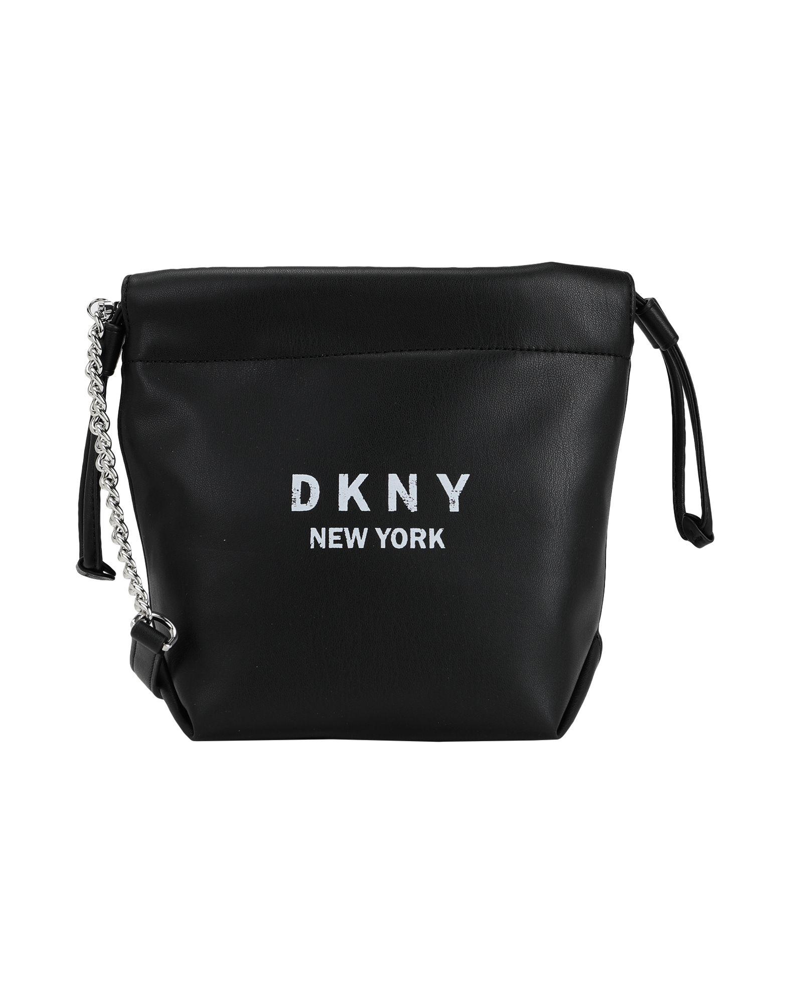 《セール開催中》DKNY レディース ハンドバッグ ブラック ポリウレタン 100% ALEX SM DRAWSTRING