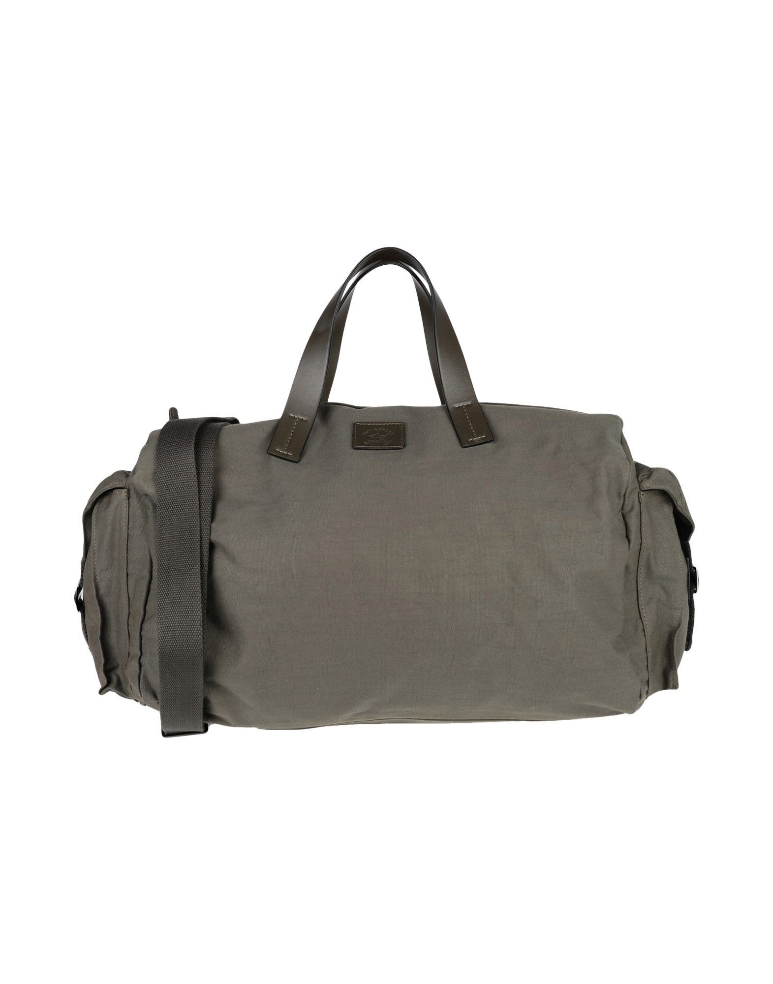 《セール開催中》PAUL & SHARK メンズ 旅行バッグ ミリタリーグリーン ナイロン 100% / 革