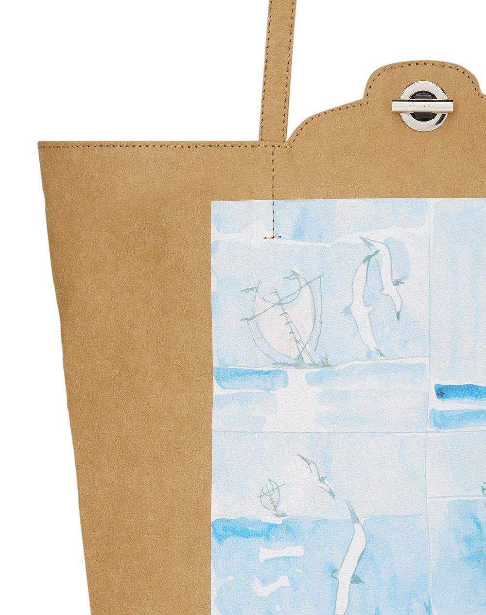 PRINTED KRAFT CABAS GROCERY BAG - Lanvin