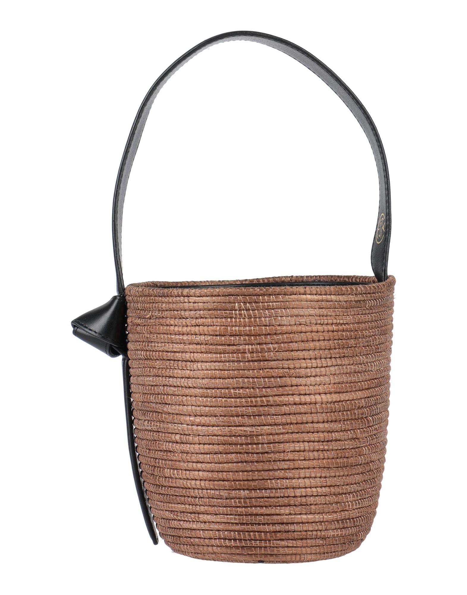 《セール開催中》CESTA COLLECTIVE レディース ハンドバッグ カーキ 革 / 紡績繊維