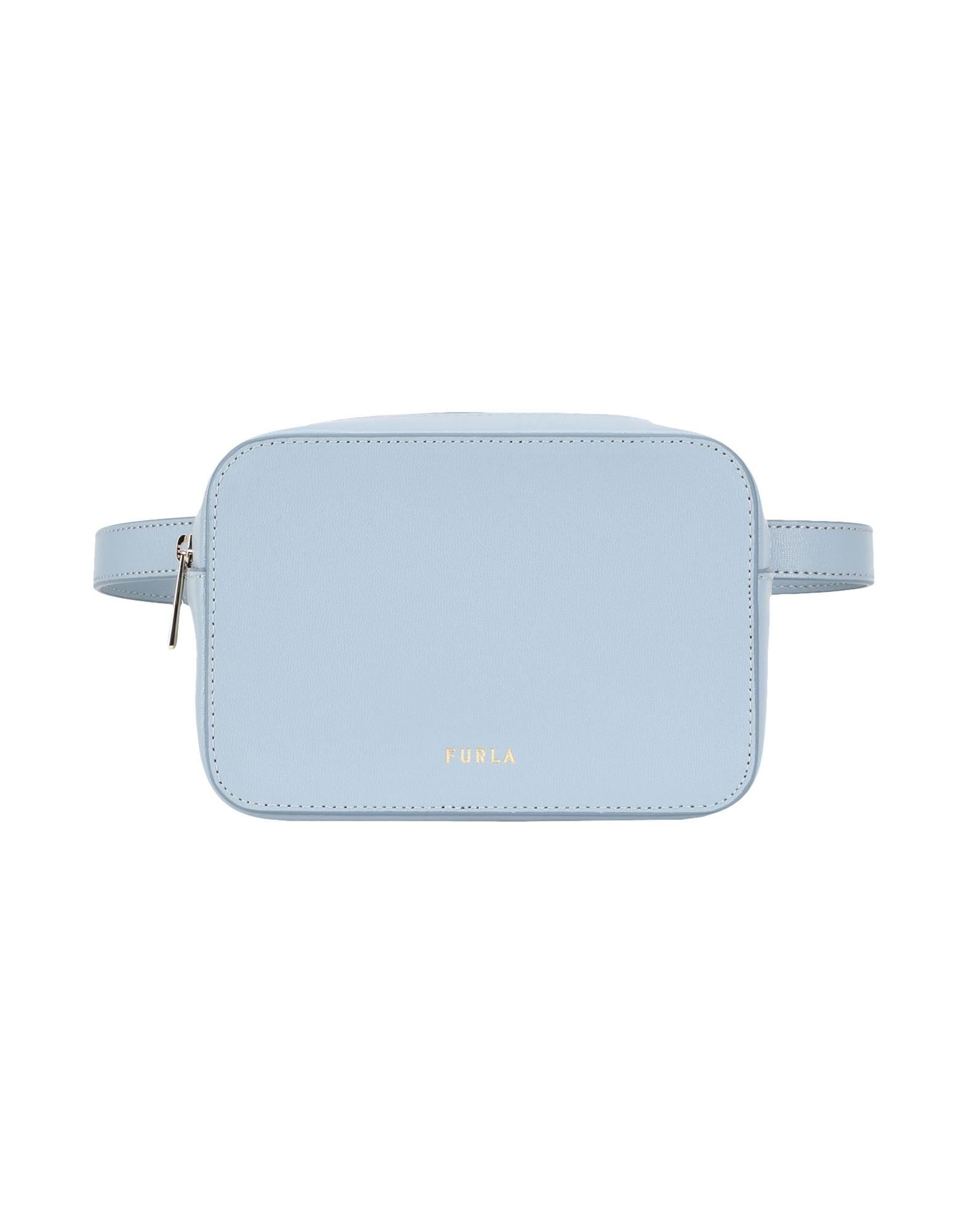 FURLA Backpacks & Fanny packs. small, logo, basic solid color, zipper closure, internal card slots, contains non-textile parts of animal origin. 100% Soft Leather