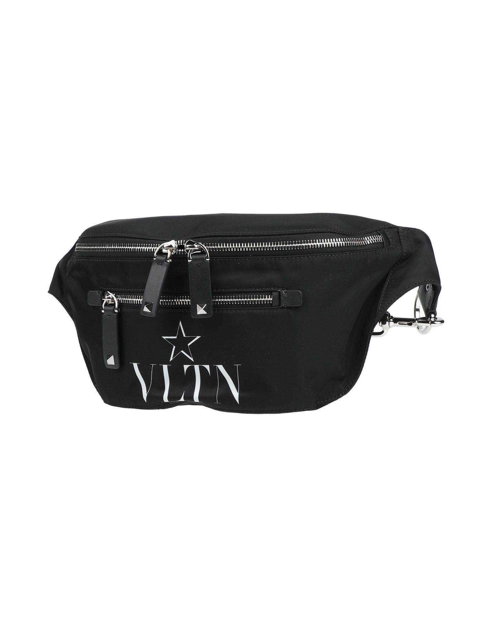 《セール開催中》VALENTINO GARAVANI メンズ バックパック&ヒップバッグ ブラック 紡績繊維 / 革
