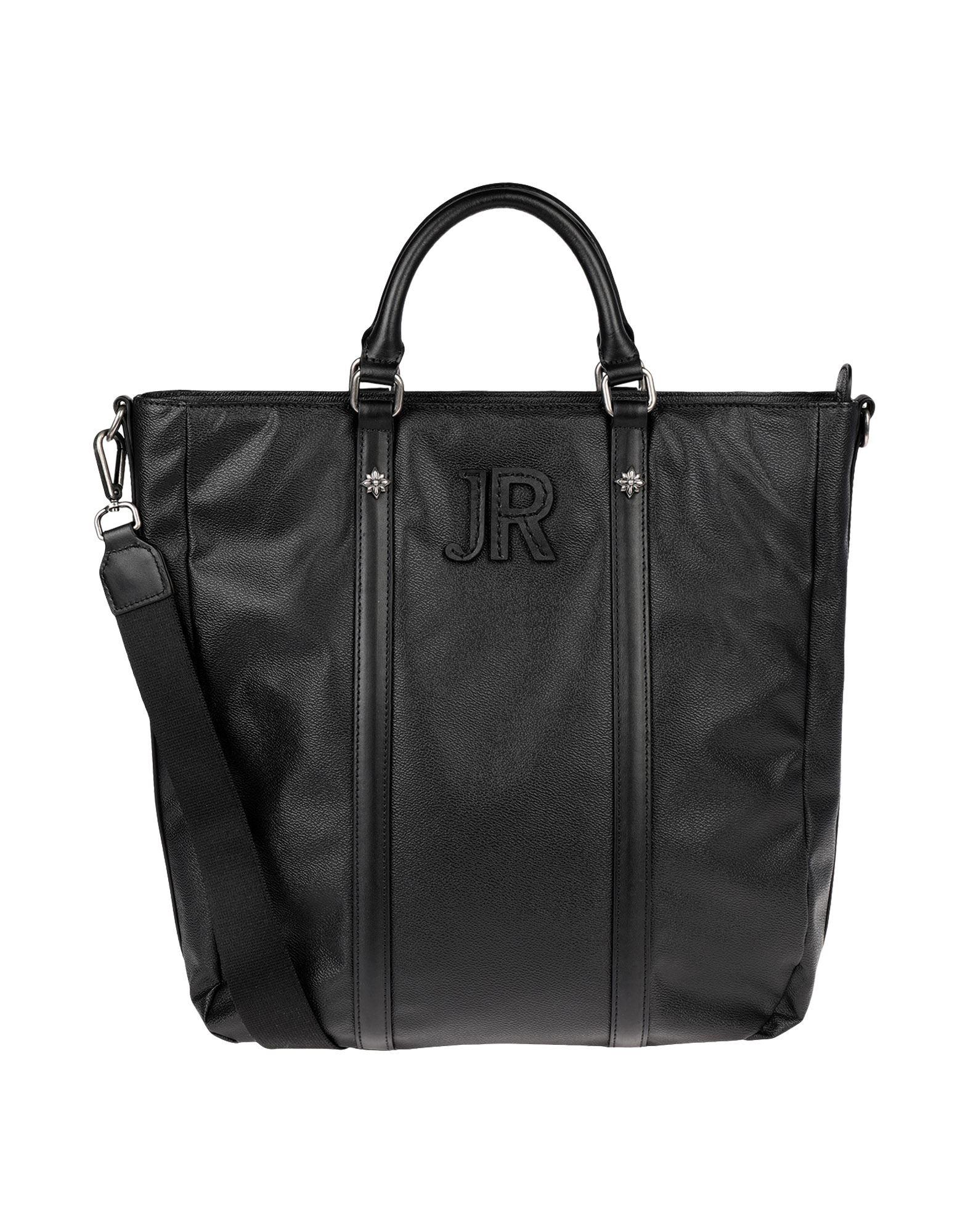 《セール開催中》JOHN RICHMOND メンズ ブリーフケース ブラック ポリ塩化ビニル 90% / 牛革 10%