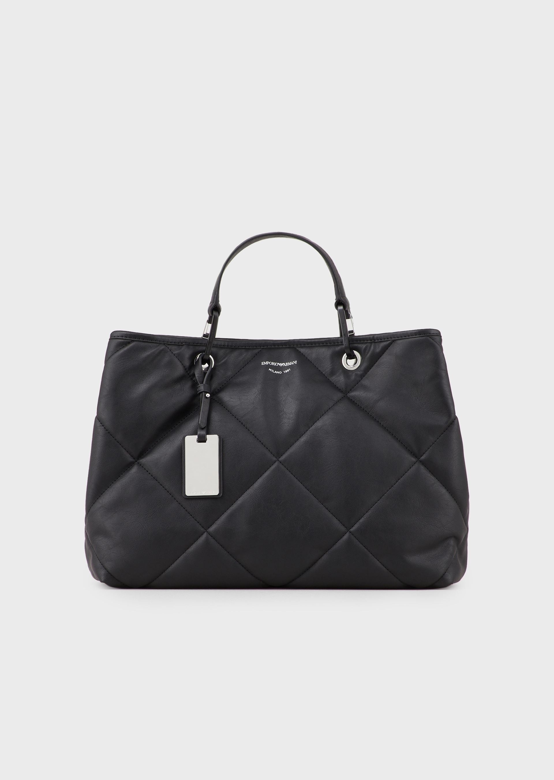 EMPORIO ARMANI Quilted MyEA Bag small shopper bag