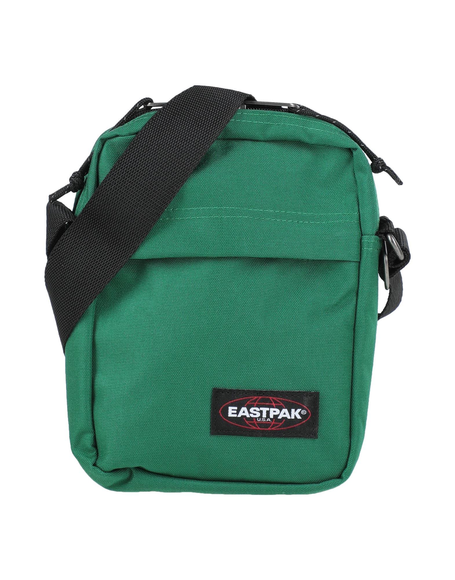 《セール開催中》EASTPAK メンズ メッセンジャーバッグ グリーン ナイロン 100%