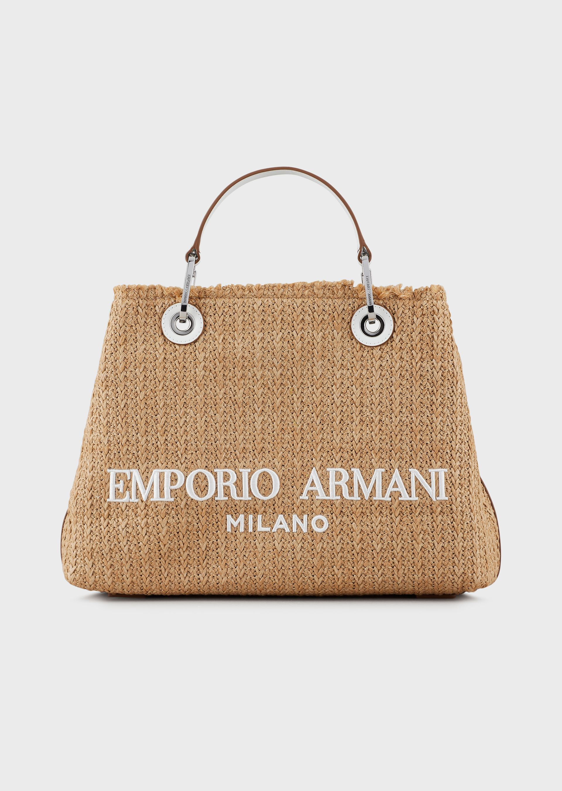 EMPORIO ARMANI MyEA Bag woven straw shopper bag