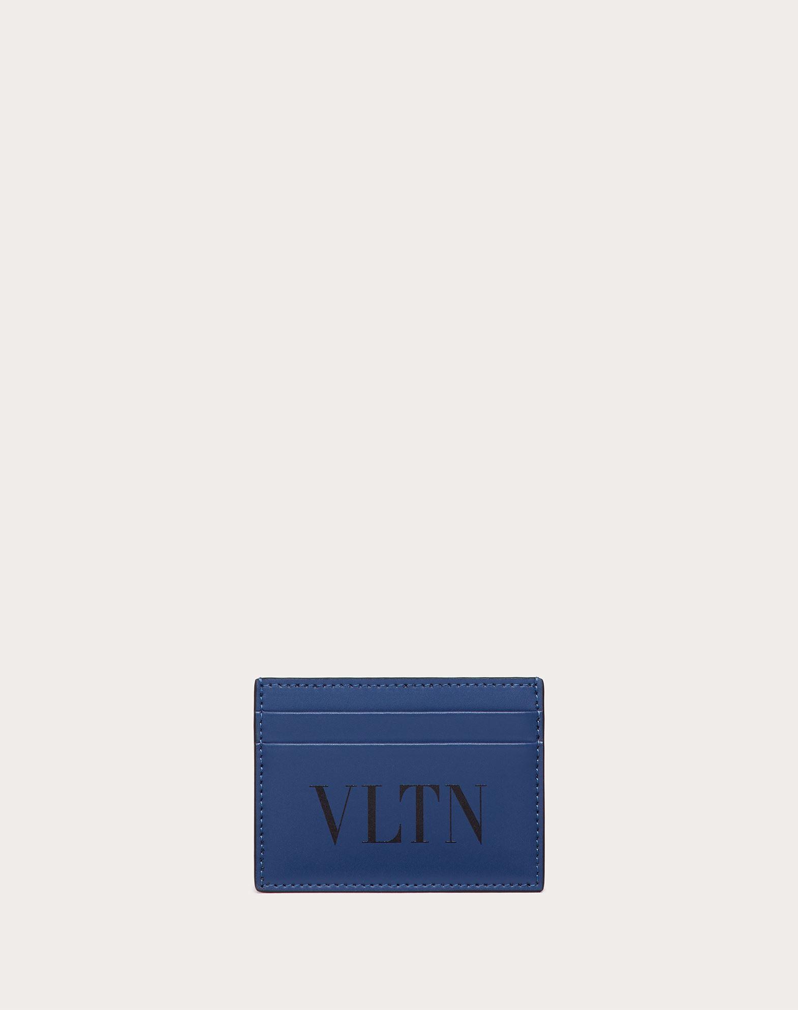 Valentino Garavani Uomo Kartenetui Vltn Herren Indigo 100% Pelle Bovina - Bos Taurus Onesize In Blue